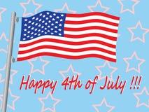 Happy 4th of July. Illustration royalty free illustration