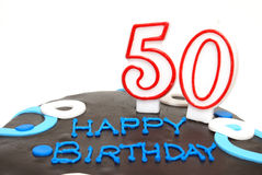 Happy 50th Birthday. A 50th birthday cake for that special someone Royalty Free Stock Photo