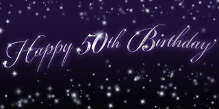 Happy 50th Birthday Banner Stock Photos