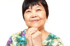Happy 60s Senior Asian Woman Stock Photography