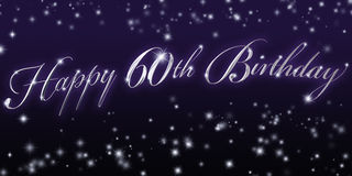 Happy 60th Birthday Banner Stock Image