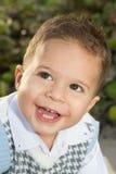 Happy. Adorable Little Brunette Boy Smiling Stock Photography