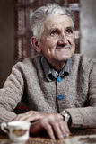 Happy 80 years old man Stock Photography