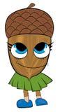 Happy acorn cartoon character Stock Photography