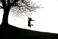Happy acrobatic girl Stock Photos