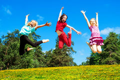 Happy active children Stock Photos