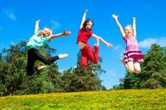 Happy active children Stock Photos