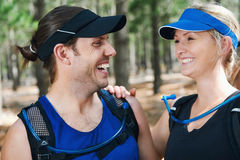Happy active couple Royalty Free Stock Image