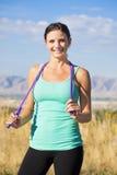 Happy Active Fitness Woman stock photos