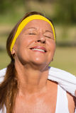 Happy active mature woman portrait Royalty Free Stock Image