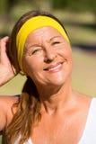 Happy active senior woman portrait Royalty Free Stock Images