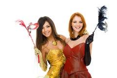 Happy actresses Stock Image