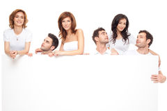 Happy ad friends royalty free stock photo