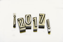 Happy 2017. Between admirations with types of press stock images