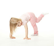 Happy adorable baby girl having fun Stock Photo