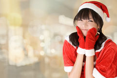 Happy adorable Christmas girl royalty free stock photography