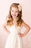 Happy adorable little girl in princess dress Royalty Free Stock Photography