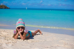 Happy adorable little girl on summer vacation at Royalty Free Stock Images