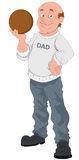 Father's Day - Vector Character Illustration Stock Photography