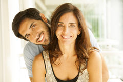 Happy adult couple Royalty Free Stock Image