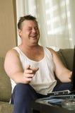 Happy adult man indoor Stock Photo
