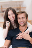 Happy affectionate young couple Stock Images