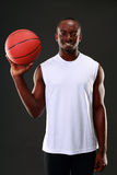 Happy african american basketball player Stock Photography