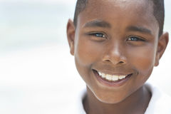 Happy African American Boy On Beach Royalty Free Stock Images