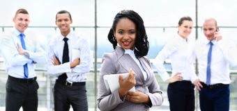Happy african american businesswoman Stock Photo