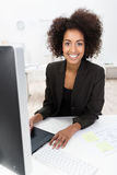 Happy African American businesswoman Stock Photography