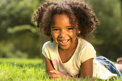 Happy African American Child. Happy African American  Child in a park Stock Photo