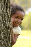 Happy African American Child. Happy African American  Child in a park Stock Image