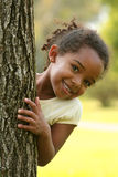 Happy African American Child. Happy African American  Child in a park Royalty Free Stock Images