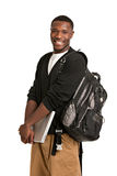Happy African American College Student Stock Photo