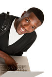 Happy African American College Student Royalty Free Stock Image