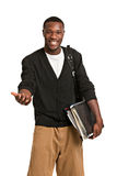 Happy African American College Student Stock Image
