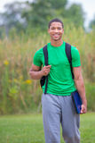 Happy African American College Student Royalty Free Stock Photos