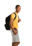 Happy African American College Student Isolated Stock Photography