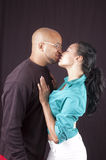 Happy african-american couple Stock Photos