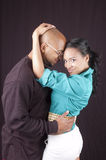 Happy african-american couple Royalty Free Stock Photos