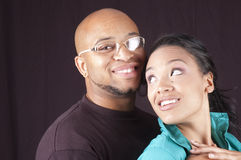 Happy african-american couple Royalty Free Stock Image