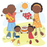 Happy African American Family Royalty Free Stock Image