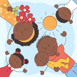 Happy African American Family royalty free illustration