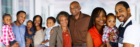 Happy African American Family. Large group of African American family members Royalty Free Stock Photography