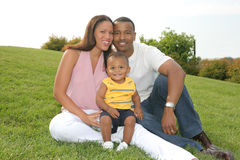 Happy African American Family Outdoor Photo Royalty Free Stock Photo