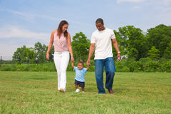 Happy African American Family Outdoor Portrait Royalty Free Stock Images