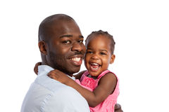 Happy African American Father Holding Baby Girl Royalty Free Stock Photos