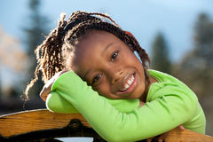 Happy African American Girl Royalty Free Stock Photos