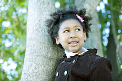 Happy african american girl Stock Photography