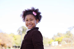 Happy african american girl Stock Images